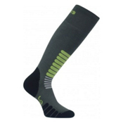 Euro Sock Zone Medium Weight Ski Socks, Dark Grey, medium