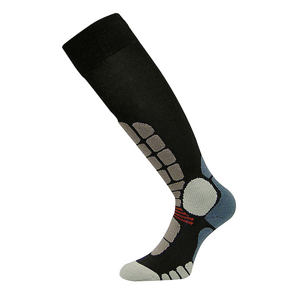 Euro Sock Digits Silver Light Ski Socks, Black, 600
