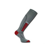 Euro Sock Silver Ultra Light Ski Socks, Grey, medium