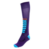 Euro Sock Silver Ultra Light Womens Ski Socks, Purple, medium