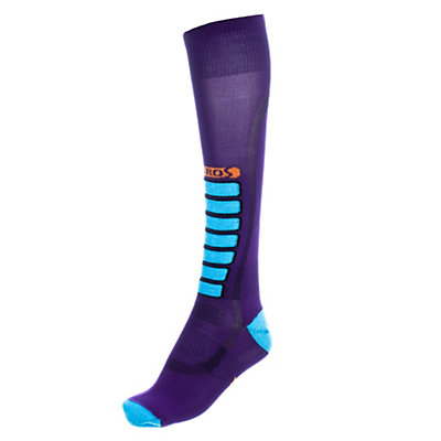 Euro Sock Silver Ultra Light Womens Ski Socks, Purple, viewer