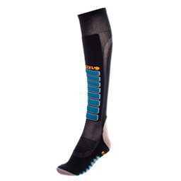 Euro Sock Silver Supreme Light Ski Socks, Black, 256