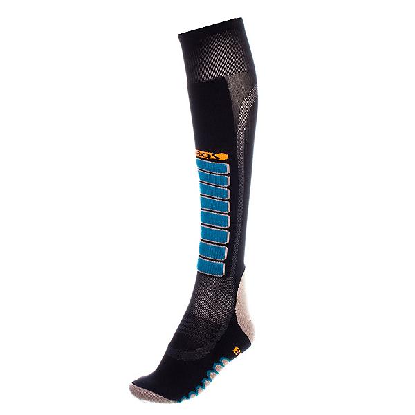 Euro Sock Silver Supreme Light Ski Socks, Black, 600