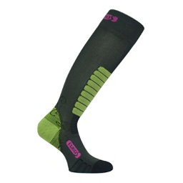 Euro Sock Sweet Silver Womens Ski Socks, Dark Grey, 256
