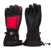 Gordini Fuse Gloves, Black-Crimson, medium