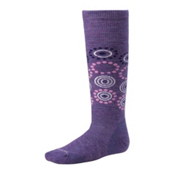 SmartWool Wintersport Dot Girls Ski Socks, Grape, medium