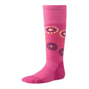 SmartWool Wintersport Dot Girls Ski Socks, Peony, medium