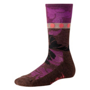 SmartWool Reflections Leaf Womens Socks, Wine Heather, medium