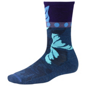 SmartWool Reflections Leaf Womens Socks, Cadet Blue, medium