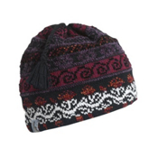 Turtle Fur Lady Fairisle Tassel Ski Womens Hat, Black, medium