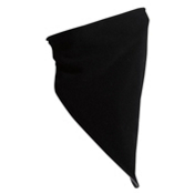 Turtle Fur Micro Fur Neckdana Bandana, Black-Graphite, medium