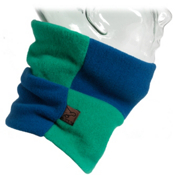 Turtle Fur Original Rubix Kids Neck Warmer, Sapphire-Emerald, medium