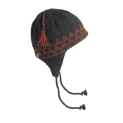 Turtle Fur Vermontur Earflap Egypt Ski Hat, Black Heather, medium