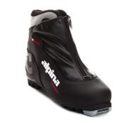 Alpina T5 Plus NNN Cross Country Ski Boots, Black-Silver-Red, medium