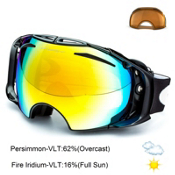 Oakley Airbrake Goggles 2014, Jet Black-Fire Iridum Persimmon, medium