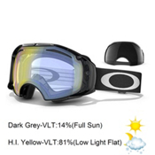 Oakley Airbrake Goggles 2015, Jet Black-High Intensity Yello + Bonus Lens, medium