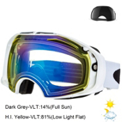 Oakley Airbrake Goggles 2014, Polished White-High Intensity Yellow-Dark Grey, medium
