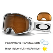 Oakley Airbrake Goggles 2014, Polished White-Black Iridium-Persimmon, medium