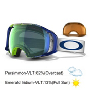 Oakley Airbrake Goggles 2013, Half Tone Green Blue-Emerald Iridium Persimmon, medium