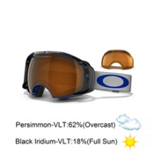 Oakley Airbrake Goggles 2014, Spectrum Blue-Black Iridium Persimmon, medium