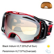 Oakley Airbrake Goggles 2015, Hyperdrive Red Black-Black Iridium, medium