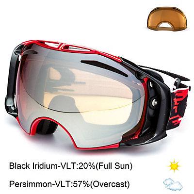 Oakley Airbrake Goggles, Jet Black-Black Iridium + Bonus Lens, large