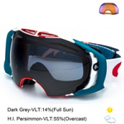 Oakley Airbrake Goggles, Flight Series Rwb-Dark Grey + Bonus Lens, medium