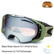 Oakley Airbrake Goggles, Tagline Gunmetal-Black Rose Iridium, medium
