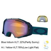 Oakley Airbrake Goggles, Morrocan Blue-Blue Iridium + Bonus Lens, medium