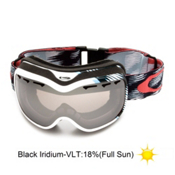 Oakley Stockholm Womens Goggles 2013, Snowtrac White Blue-Black Iridium, medium