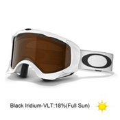 Oakley Twisted Goggles 2013, Polished White-Black Iridium, medium