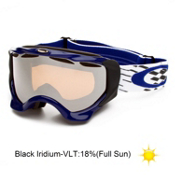 Oakley Twisted Goggles 2014, X Weave Blue-Black Iridium, medium