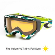 Oakley Twisted Goggles 2014, Glacier Blue Green-Fire Iridium, medium