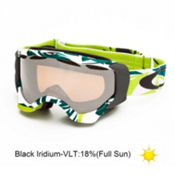 Oakley Twisted Goggles 2014, Glacier Blue Green-Black Iridium, medium