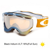 Oakley Twisted Goggles 2014, Half Tone Blue Gold-Black Iridium, medium