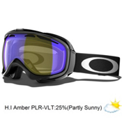 Oakley Polarized Elevate Womens Goggles 2013, Jet Black-H.i. Amber Polarized, medium
