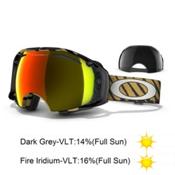 Oakley Airbrake Shaun White Goggles, Highlight Gold Black-Fire Iridium Persimmon, medium