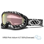 Oakley A Frame Shaun White Goggles 2013, Highlight White Black-VRr50 Pink Iridium, medium