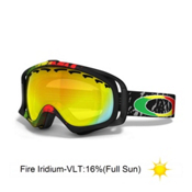 Oakley Crowbar Tanner Hall Goggles 2013, Rasta Mane-Fire Iridium, medium