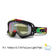 Oakley Crowbar Tanner Hall Goggles 2013, Rasta Mane-High Intensity Yellow, medium