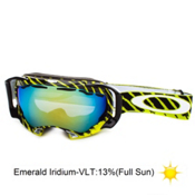 Oakley Splice Alternative Fit Shaun White Goggles 2013, Highlight Enamel Mint Black-Emerald Iridium, medium