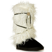 Huggrz Aspen Boot Wrap, Silky Cream Sherpa, medium