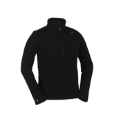 KJUS Fred Half Zip Mens Sweater, Black, medium