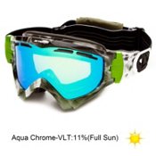 Arnette Series 3 Ski Goggles 2013, Up In Smoke-Aqua Chrome, medium
