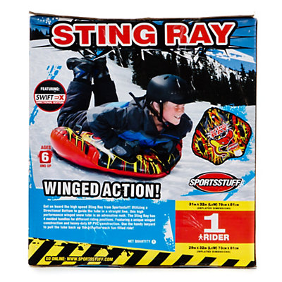 SportsStuff Sting Ray Snow Tube Inflatable Sled, , large