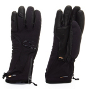 KJUS Rebel Womens Ski Womens Gloves, Black, medium