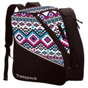 Transpack Edge Junior Ski Boot Bag 2017, White-Pink-Aqua Aztec, medium