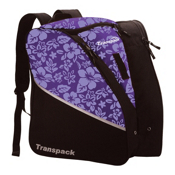 Transpack Edge Junior Ski Boot Bag, Purple Floral, medium