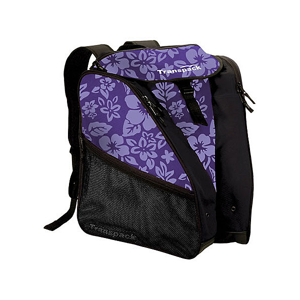 Transpack XTW Ski Boot Bag, Purple Floral, 600