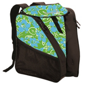 Transpack XTW Ski Boot Bag, Lime-Aqua-White Multi Floral, medium